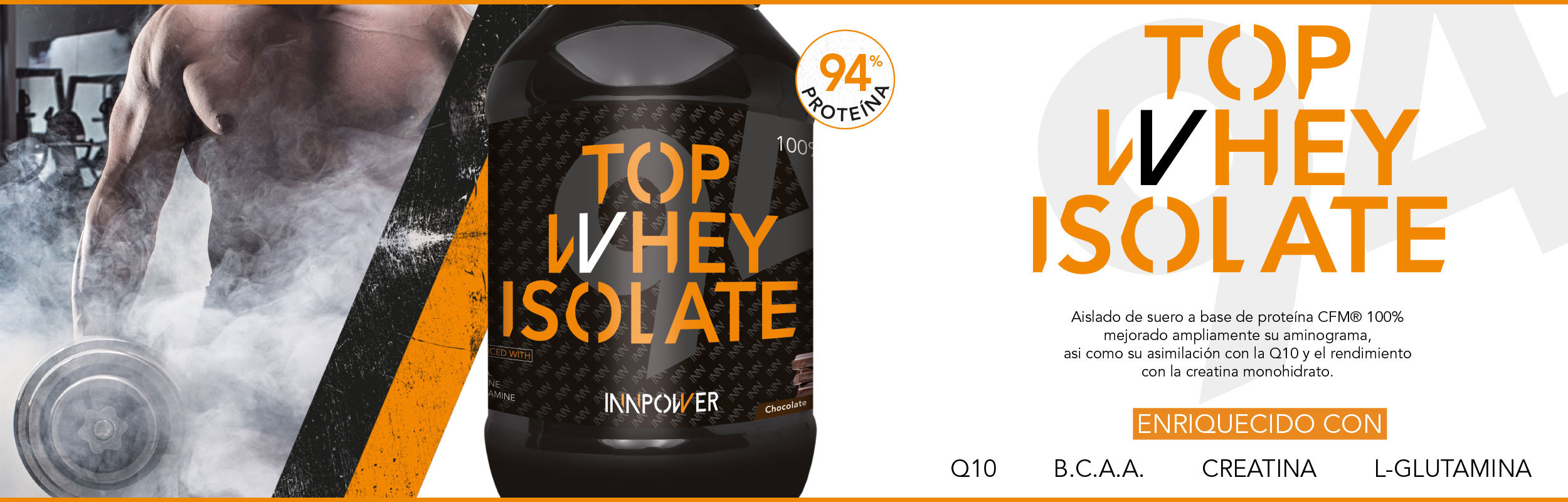 Proteína Top whey isolate 94